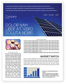 Technology, Science & Computers: Solar Panels Rising Up Power Newsletter Template #01936