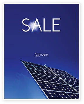 Solar Panels Rising Up Power Sale Poster Template, 01936, Technology, Science & Computers — PoweredTemplate.com