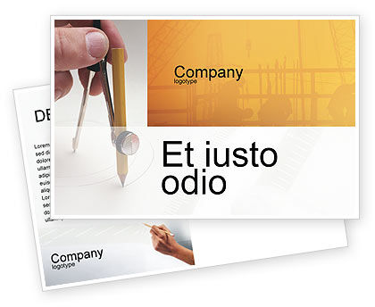 Draftsman Postcard Template, 01937, Careers/Industry — PoweredTemplate.com