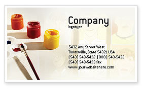 Art & Entertainment: Drawing Business Card Template #01939