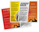 Utilities/Industrial: Silhouettes Of Excavators Brochure Template #01940