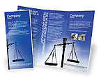 Legal: Symbol of Justice Brochure Template #01941