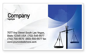 Legal: Symbol of Justice Business Card Template #01941