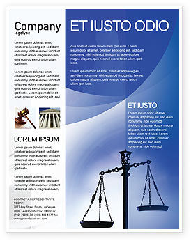 Symbol of Justice Flyer Template, 01941, Legal — PoweredTemplate.com