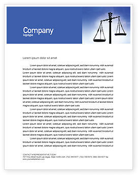 Legal: Symbol of Justice Letterhead Template #01941