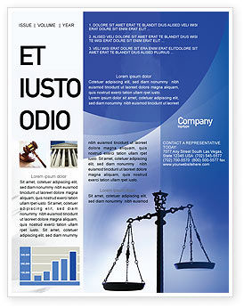 Legal: Symbol of Justice Newsletter Template #01941