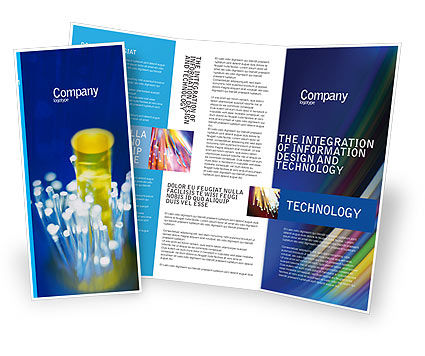 Technology, Science & Computers: Optical Fiber Lines Brochure Template #01943