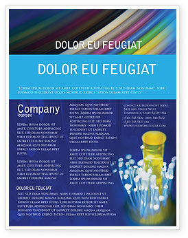 Technology, Science & Computers: Optical Fiber Lines Flyer Template #01943