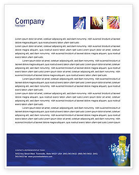 Technology, Science & Computers: Optical Fiber Lines Letterhead Template #01943