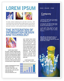 Technology, Science & Computers: Optical Fiber Lines Newsletter Template #01943