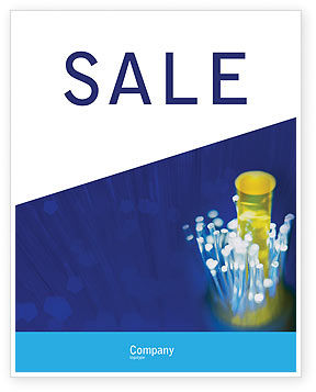 Technology, Science & Computers: Optical Fiber Lines Sale Poster Template #01943