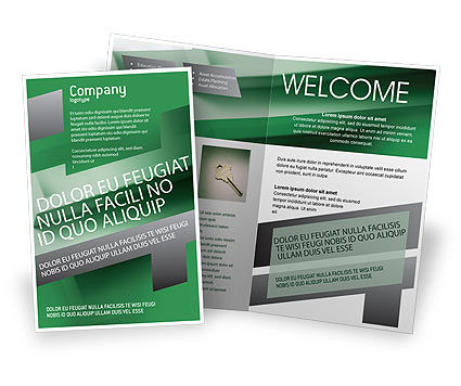 Solution Brochure Template, 01946, Business Concepts — PoweredTemplate.com