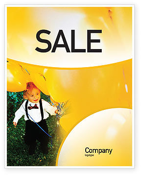 Holiday/Special Occasion: Kid Party Sale Poster Template #01948