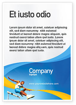 Sports: Obstacle Course Ad Template #01949