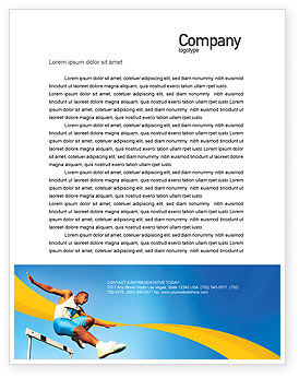 Sports: Obstacle Course Letterhead Template #01949