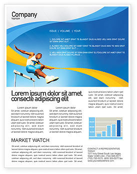 Sports: Obstacle Course Newsletter Template #01949