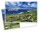 Agriculture and Animals: Pampa Postcard Template #01950