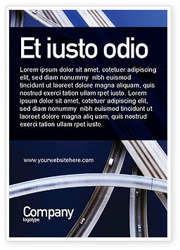 Autobahn Interchange Ad Template, 01952, Cars/Transportation — PoweredTemplate.com