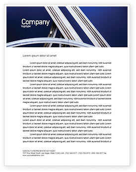 Cars/Transportation: Autobahn Interchange Letterhead Template #01952