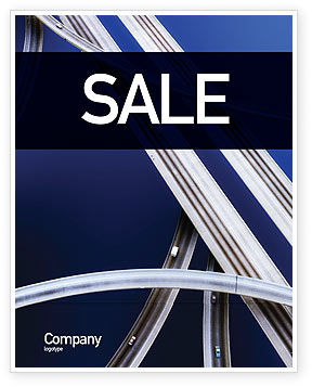 Autobahn Interchange Sale Poster Template, 01952, Cars/Transportation — PoweredTemplate.com