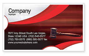 Judge Mallet Business Card Template