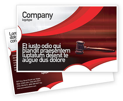 Legal: Judge Mallet Postcard Template #01953