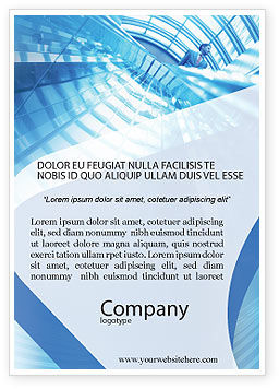 Office Building Hall Ad Template, 01957, Business — PoweredTemplate.com