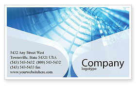 Office Building Hall Business Card Template, 01957, Business — PoweredTemplate.com