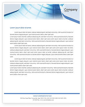Business: Office Building Hall Letterhead Template #01957