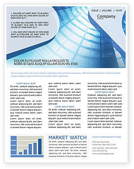 Office Building Hall Newsletter Template For Microsoft Word Adobe