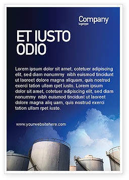Utilities/Industrial: Fuel Tank Ad Template #01958