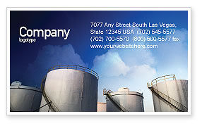 Utilities/Industrial: Fuel Tank Business Card Template #01958