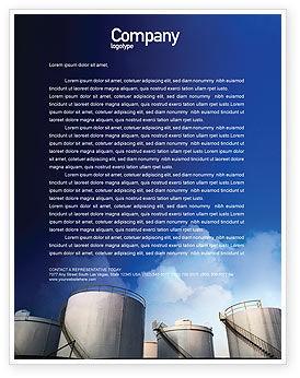 Utilities/Industrial: Fuel Tank Letterhead Template #01958