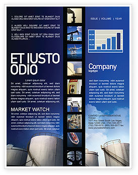 Utilities/Industrial: Fuel Tank Newsletter Template #01958