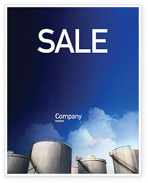 Utilities/Industrial: Fuel Tank Sale Poster Template #01958