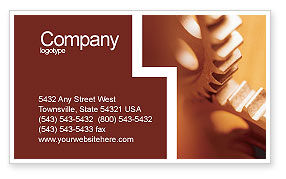 Construction: Gear Business Card Template #01959