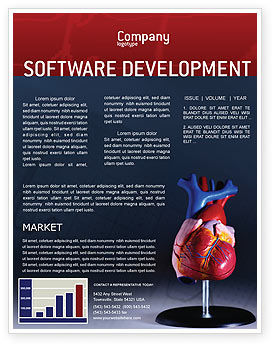 Medical: Heart Model Newsletter Template #01960