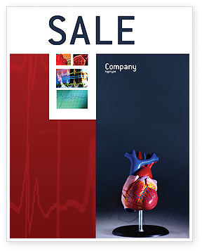 Heart Model Sale Poster Template