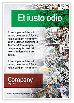 Recycle Industry Ad Template, 01961, Nature & Environment — PoweredTemplate.com