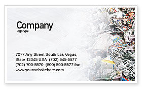 Nature & Environment: Recycle Industry Business Card Template #01961