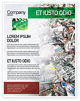 Recycle Industry Flyer Template, 01961, Nature & Environment — PoweredTemplate.com