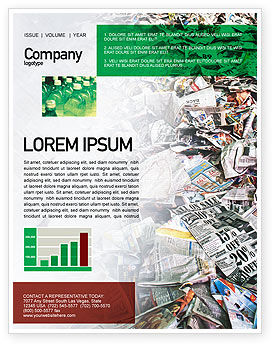 Recycle Industry Newsletter Template, 01961, Nature & Environment — PoweredTemplate.com