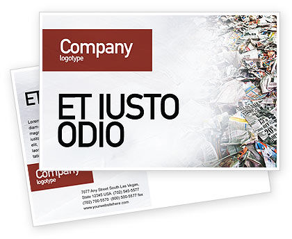 Recycle Industry Postcard Template