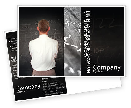 Education & Training: Business Logic Postcard Template #01962