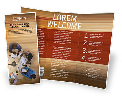 Business: Business Discussion Brochure Template #01963