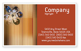 Business Discussion Business Card Template, 01963, Business — PoweredTemplate.com