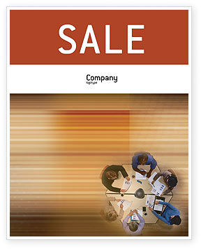 Business: Business Discussion Sale Poster Template #01963