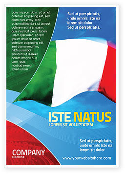 Flags/International: Italiaanse Vlag Advertentie Template #01964