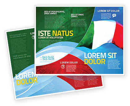 Flags/International: Italian Flag Brochure Template #01964