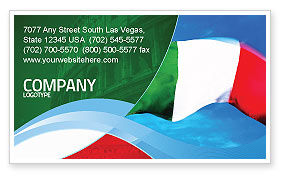 Flags/International: Italian Flag Business Card Template #01964